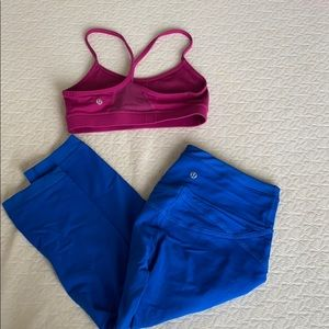 🔵lulu lemon yoga set -  both bra and pants🟣